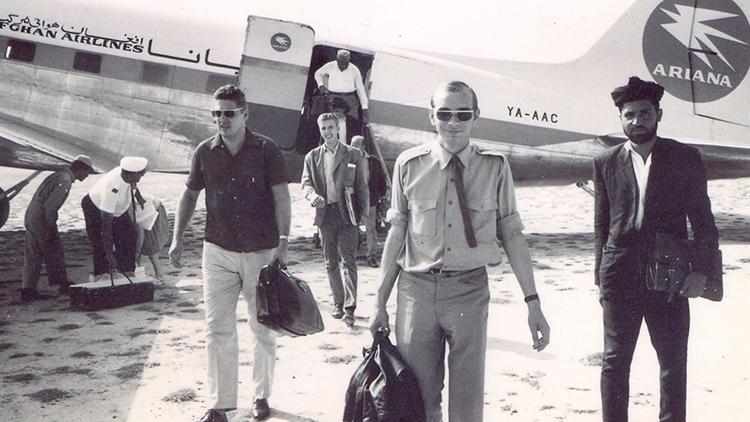 Hans Wallow bei einem Besuch in Afghanistan